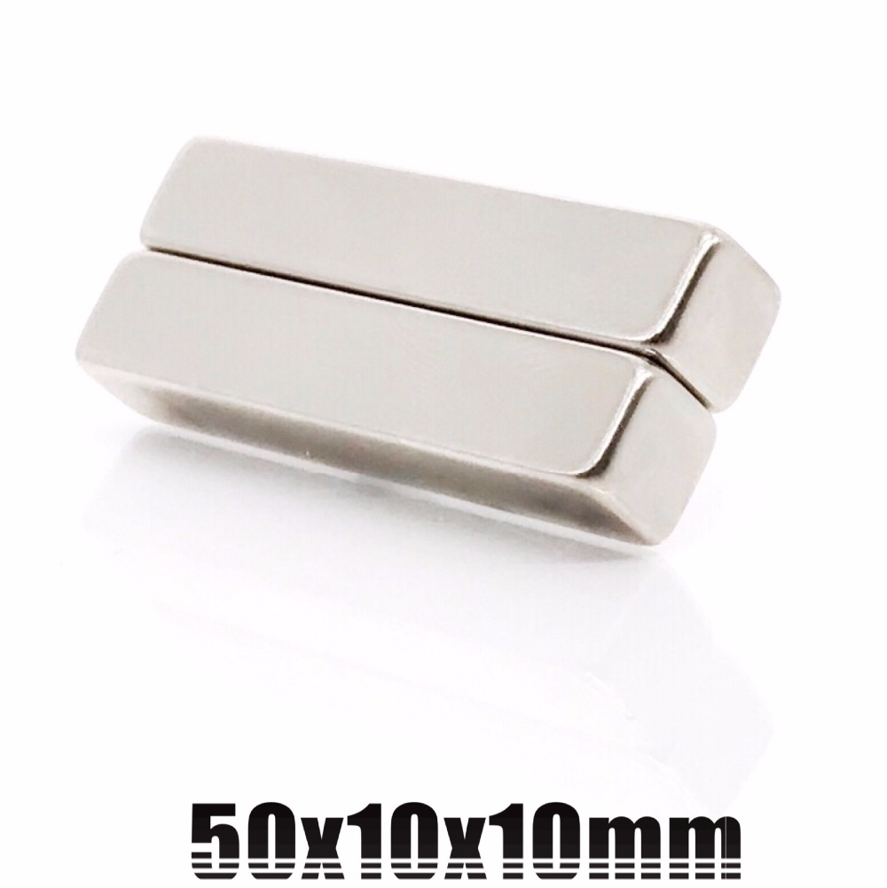 50pcs 50mm x 10mm x 10mm Super strong neo neodymium magnet 50x10x10 NdFeB magnet 50 10