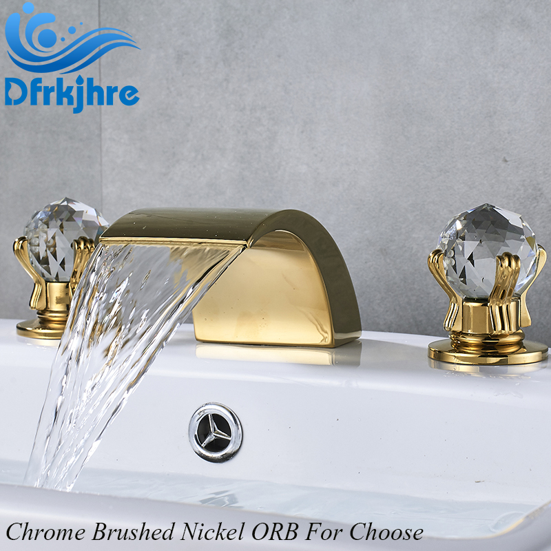 Chrome Nickel ORB Golden Bathroom Basin Sink Faucet Crystal Ball Dual Handle Faucet Hot and Cold Water Mixer Taps Torneiras все цены
