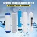 5 stücke 5 Bühne RO Umkehrosmose Filter Ersatz Wasserfilter Patrone Ausrüstung Mit 50 GPD Membran Wasser Filter Kit