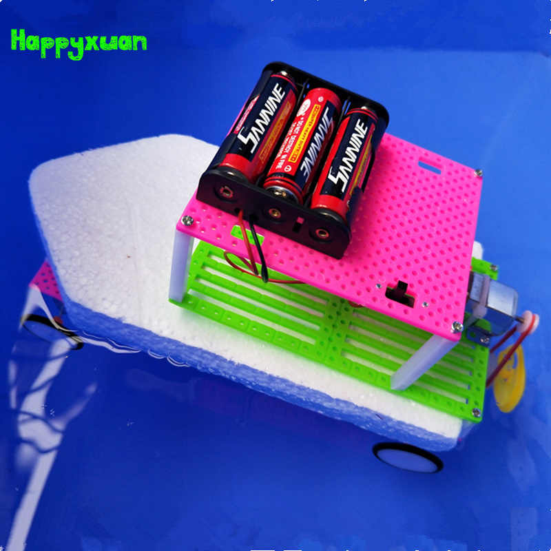 987735976 Happyxuan Wind Power Amphibious Boat Model DIY Kids Inventions Science Kits  Fun Creative School Project Toy