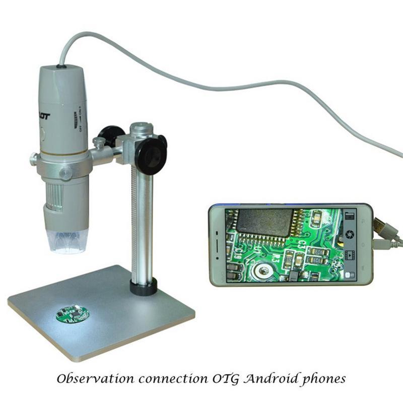 Цифровые микроскопы USB электронный микроскоп видео HD 1080P 5 дюймовый микроскоп с дистанционным промышленной Камера Лупа 8 светодиодный - 2