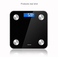 Smart App Body Fat Scales Bluetooth 4.0 LCD Battery Weight Scale Weight Data Analysis Monitor Health Care Tool