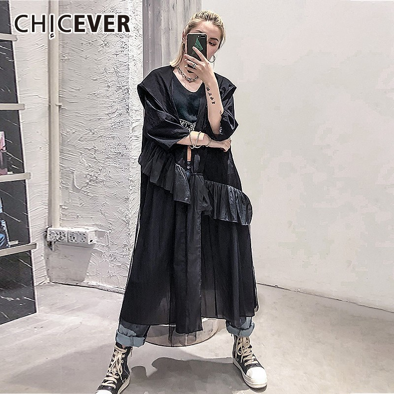 Chicever Summer Women Print Shirt Lapel Three Quarter Sleeve Button Open Stich Loose Slim Long Female Top Blouse 2019 Fashion Blouses & Shirts