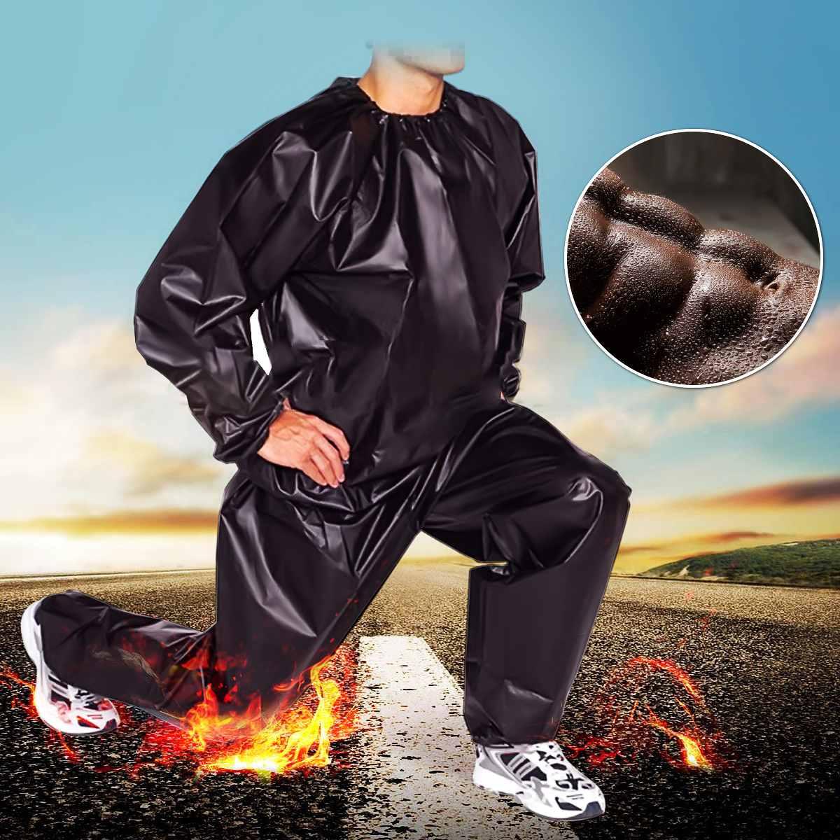 Sauna-Suit Shaper Sweat Weight-Loss Exercise Women PVC Gym For Fat Burn Unisex Black