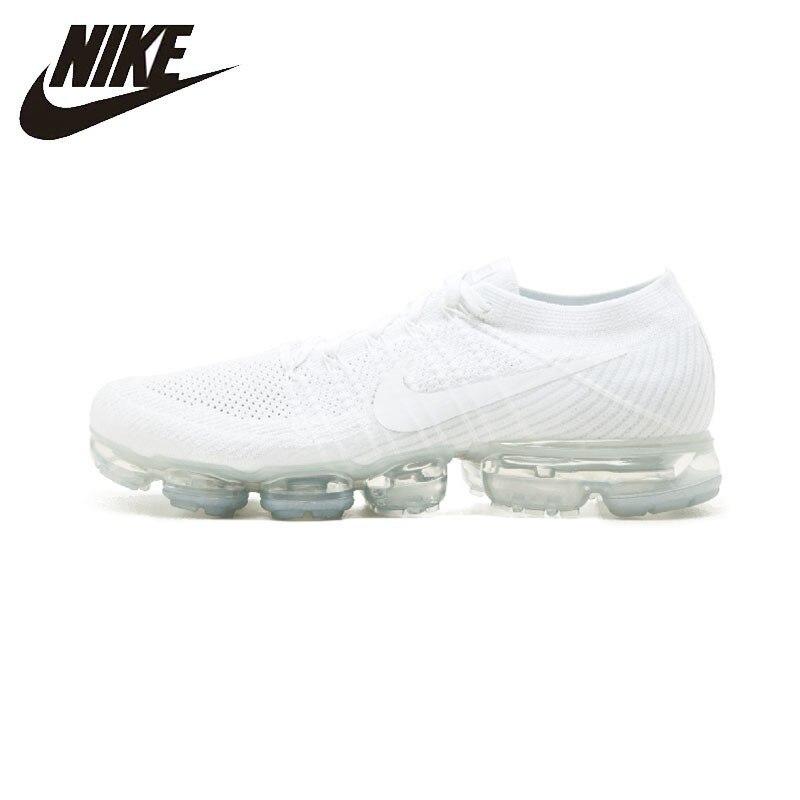 Flyknit Nike Air Vapormax Confortável Tênis de Corrida dos homens Respirável Branco Não-escorregar Sneakers #849558-004
