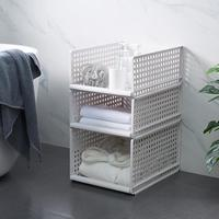 3 Cubes Closet Storage Organizer Bathroom Storage Shelves For Kitchen Office Living Room DIY Plastic Cabinet