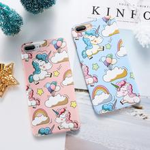 KISSCASE Unicorn Case For iPhone XR XS Max Chic Pink Cover For iPhone 7 8 6 6s Plus X 5 5s SE Protective PC Plain Phone Capinhas стоимость