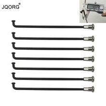 JQORG 8G Motorfiets Spaken Diameter 4.02mm ED Zwart Kleur Oppervlak 304 Roestvrij Staal Materiaal Motocross Spaken Met Messing caps