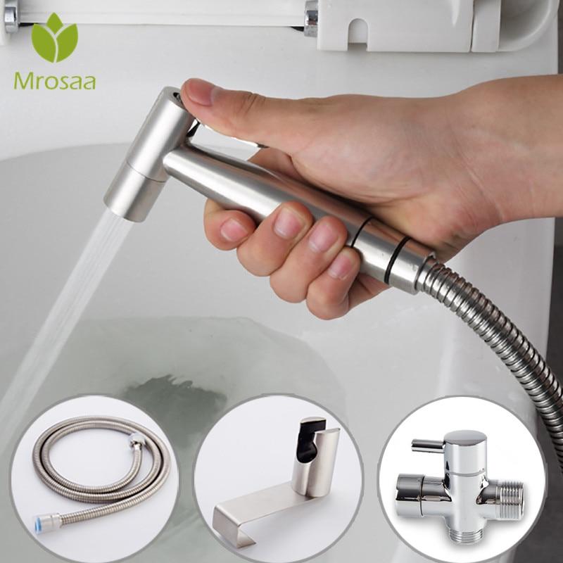 Stainless Steel Handheld Bidet Toilet Sprayer Kit Bidet faucet Bathroom Hand Shower Head for Personal Hygiene and Potty Toilet