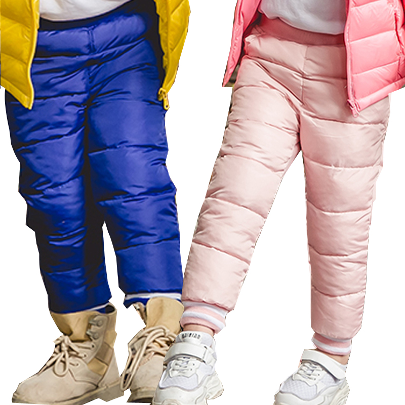 Kids Pants Cotton Padded Fall Toddler Trousers Waterproof Toddler Boy Winter Pants Girl Trousers Children Clothes Dropshipping