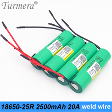original 18650 battery 2500mah INR18650-25R 20a rechargeable 18650 battery for screwdriver tool battery shura welding wire
