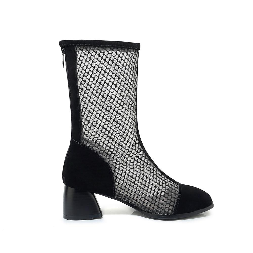 Sgesvier 33 Net Verano 43 long Short Moda Nuevo Gran Grueso Mujer G413 Dropship De 2019 Tamaño Tacón Zapatos Botas La Ba4rBqSY