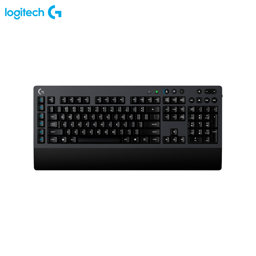 Keyboards Logitech 920-008395 gaming wireless wired backlit Keyboard Computer Peripherals Mice rii mini i4 wireless remote backlit touchpad keyboard black