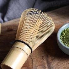 цена на 2018 New 1PC Bamboo Japanese Style Powder Tea Whisk Green Tea Preparing Matcha Brush Supplies