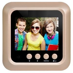 Image 3 - 2.4Inch Lcd Home door bell Color Screen 160 Degrees Ir Night Door Peephole Camera Photo/Video Recording Digital Door Camera