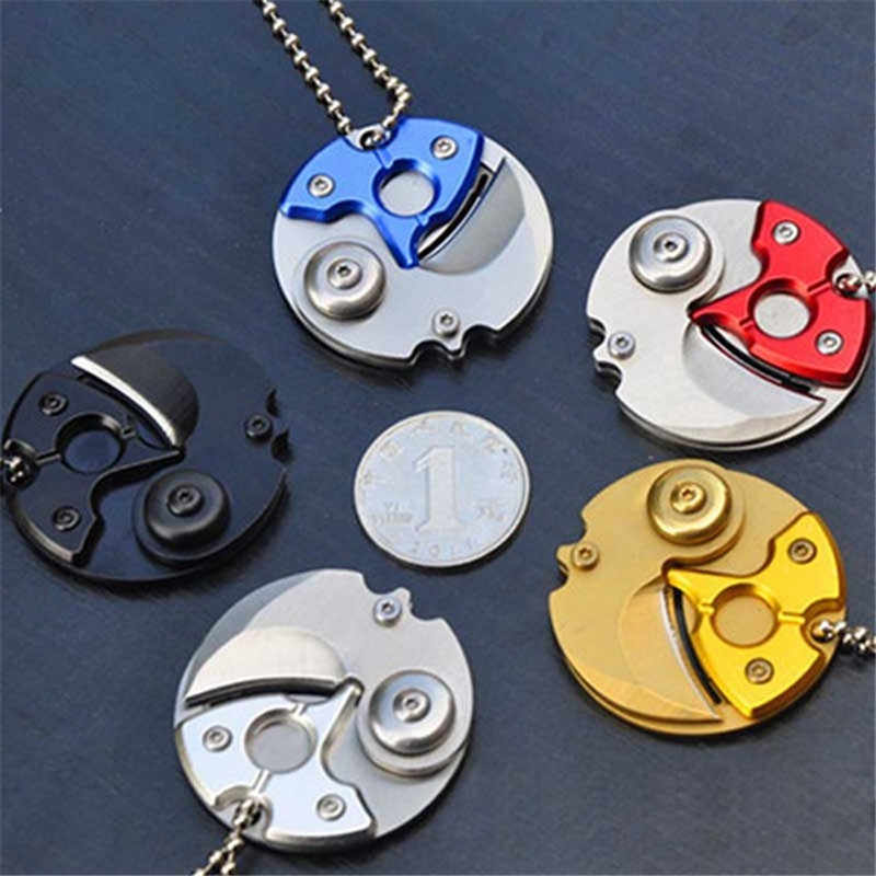 Fold Mini knife Claw Coin Package Gadget Pocket keychain EDC Outdoor Parcel Box Letter Gear Peel Peeler Opener Open Utility Camp