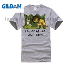 GILDAN Retro 1963 Where The Wild Things Are T Shirt Funny Clothing Casual Short Sleeve Shirts  Print Men Brand