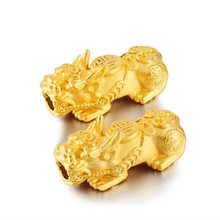 Vietnam Alluvial Gold Big Pixiu Top Quality No Fade Brass Pixiu Beads Jewelry Accessories Findings(China)