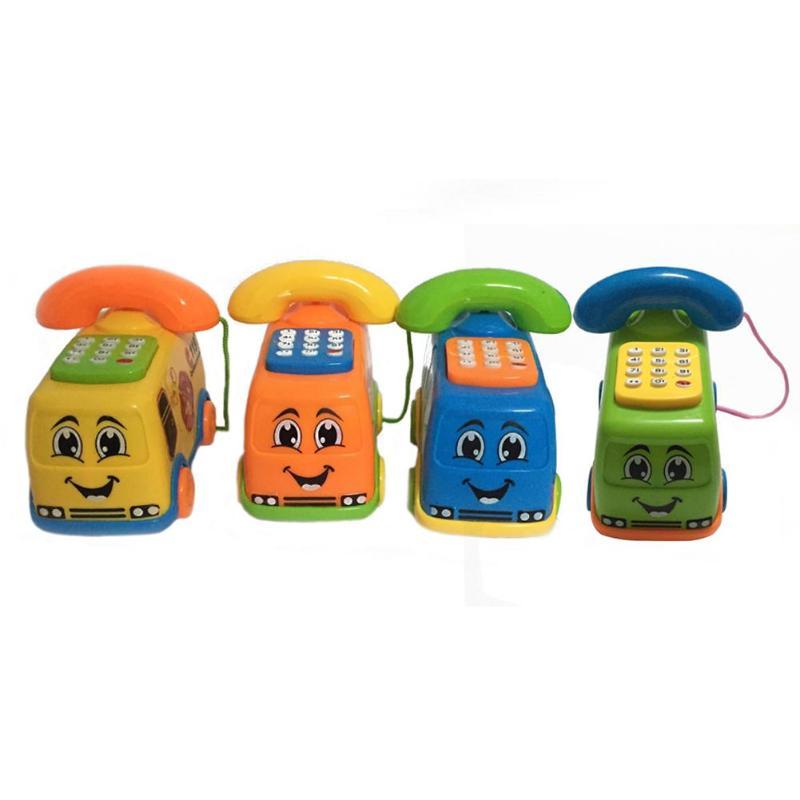 Baby Toys Music Cartoon Bus Phone Educational Developmental Kids Toy Gift Funny Anti-stress Children Girl Boys Toys