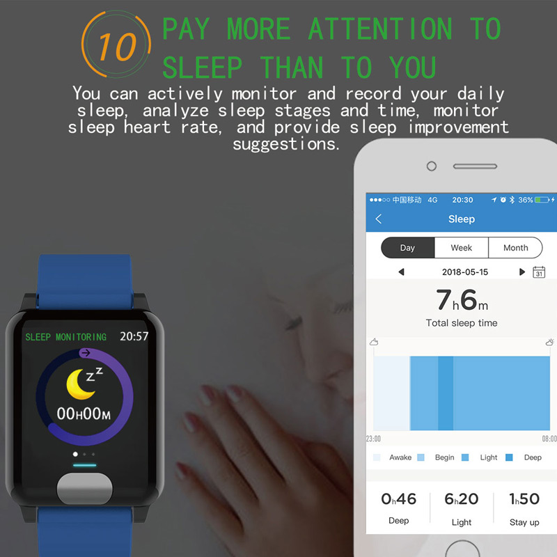 Chycet Smart Watch or Smart Bracelet for  ECG PPG and Blood Pressure Measurement also for Heart Rate Monitor with Activity Tracker 4