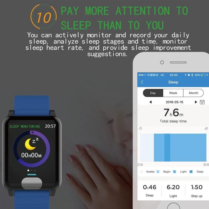Pulsera inteligente Chycet ECG PPG reloj de medición de presión arterial para mujer Monitor de ritmo cardíaco banda de Fitness con rastreador de actividad - 5