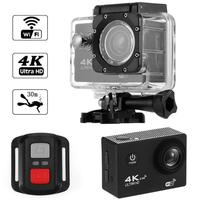 F60R 4K WIFI Action Camera 1080P HD 16MP Helmet Cam 30m Waterproof 170 Degree Wide Angle Lens DV with Remote Control
