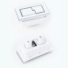 2 шт. прямоугольная кнопка для унитаза, ABS пластик, двойная кнопка для унитаза, керамический резервуар для воды, аксессуары для слива, J18259