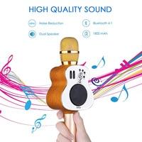 M9 Guitar mikrofon Handheld Bluetooth Wireless Karaoke Microphone Phone Player MIC Speaker Record Music KTV Microfone PK WS858