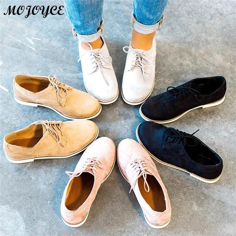 Women Casual Shoes Lightweight Fashion Design Flats for Lady Big Size Lace-Up Woman Shoes 35-43 Feminina Mujer Dropshipping
