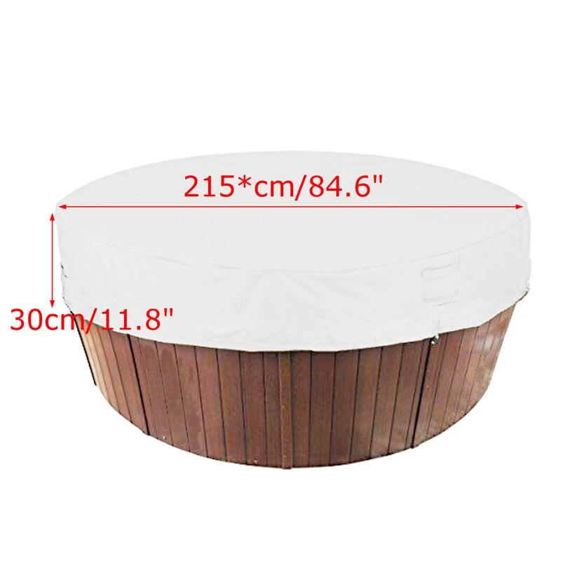 Cubierta para bañera de hidromasaje cubiertas para el clima cubierta protectora para el polvo de la bañera cubiertas de spa impermeables a prueba de UV 4 tamaños gris claro
