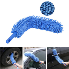 1 pcs Car Cleaning Double sided Thickened Chenille Flexible Dust Duster Wash Window Wheel brush 4 Colors