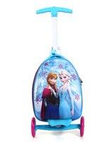 Новая Девочка Дети Путешествия интернат коробка багажная тележка чемодан Скутер Складной Путешествия удар Push 3 колеса для 3 10 лет дети