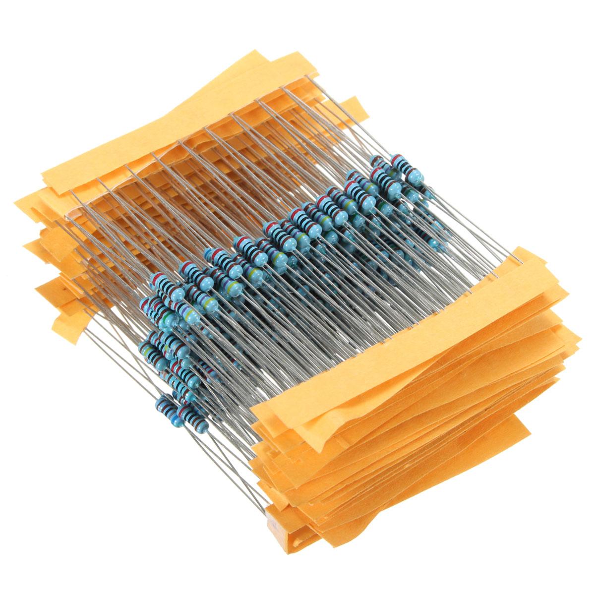 New 300Pcs DIY Led Excellent Professiona Resistors Metal Film 300 Pack 10 Each 30 Values 1/4w 1% Kit/Assortment Chip Set