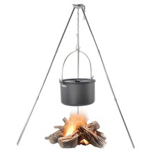цены 1set Outdoor Barbecue Grill Triangle Stand Rack for Camping Picnic Hanging Campfire Stand for BBQ Grills