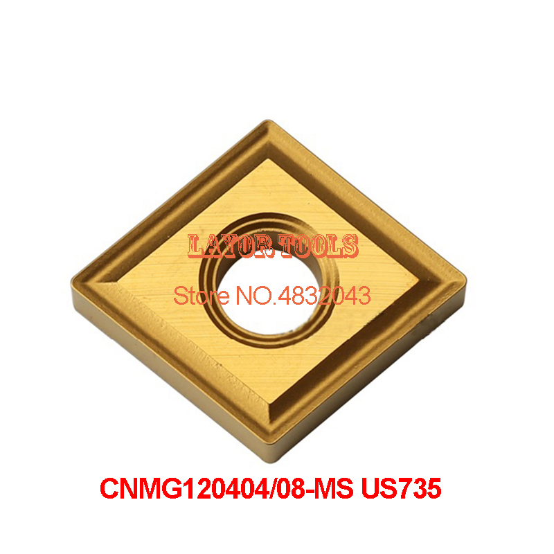 CNMG120404-MS US735/CNMG120408-MS US735 ,original <font><b>CNMG</b></font> <font><b>120404</b></font> MS/120408 insert carbide for turning tool holder image