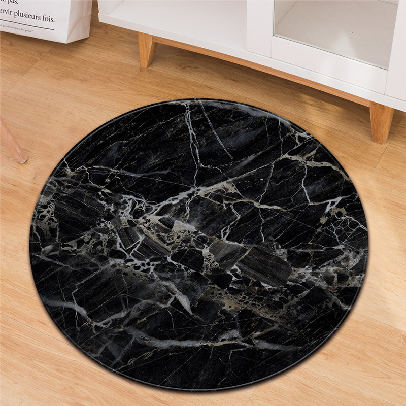 Nordique Europe blanc noir marbre rond Tapis Tapis chambre pour enfants salon canapé Tatami Tapis de sol Tapis Dywan livraison directe