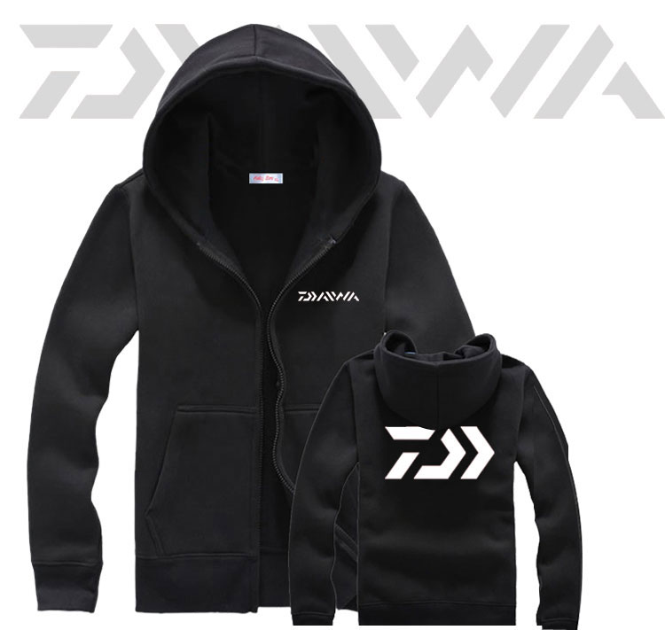 Daiwa Fishing Clothes 2019 Autumn Winter Sea Fishing Warm Fleece Hoodies Outdoor Windproof Fishing Competition Uniforms