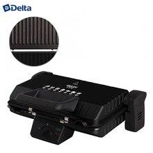 Электрический пресс-гриль DELTA LUX  DL-050B, съемные панели с антипригарным покрытием