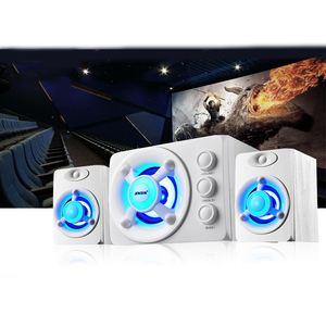 Image 3 - SADA D 208 3 en 1 définit Adio Bluetooth 2.1 canaux basse lumière LED ordinateur haut parleur Support TF u disk