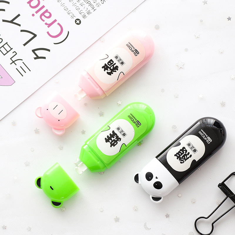 5mm*3m Kawaii Panad Correction Tape Cartoon Animals School Writing Corrector Tools Kids Gifts Office School Stationery Supplies