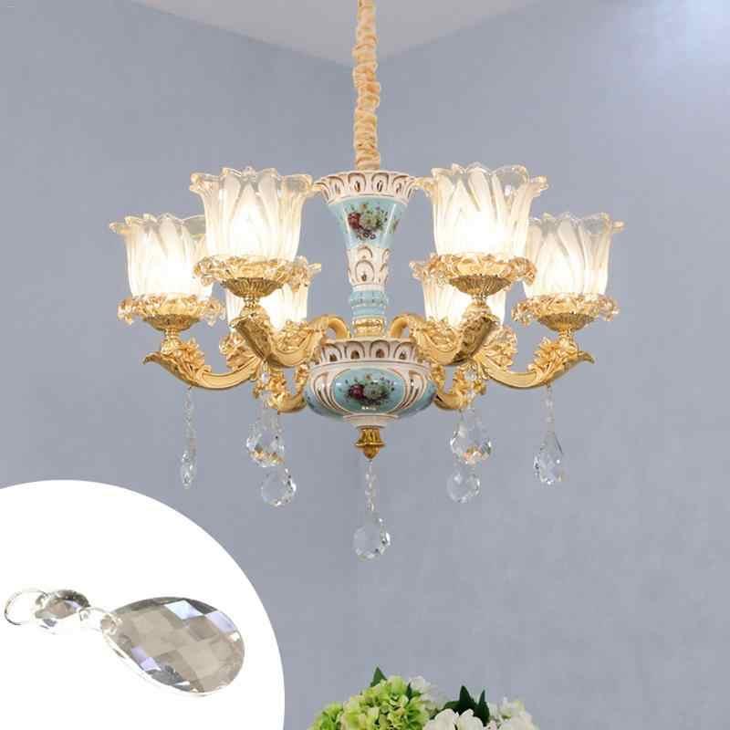 10 шт./лот 50 мм Bauhinia прозрачное искусство стеклянные капли люстра подвесной висячий светильник призмы многогранные бусины домашний X'mas Декор