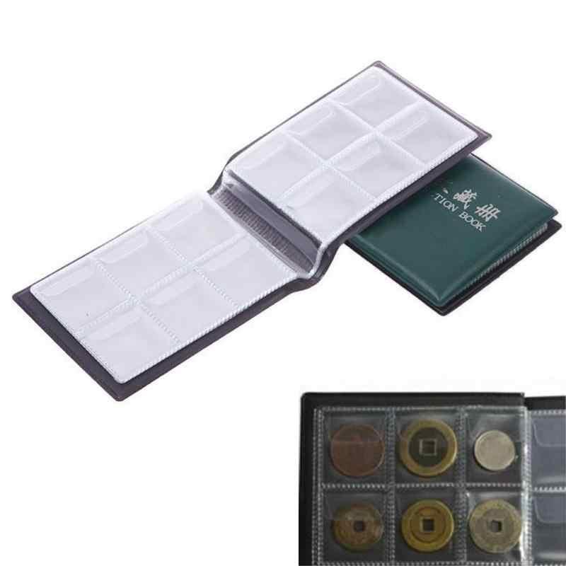 60 слотов Альбом для монет книги 10 страниц Деньги Пенни карман коллекция Держатель монет Альбом для хранения Книга копилки случайный цвета