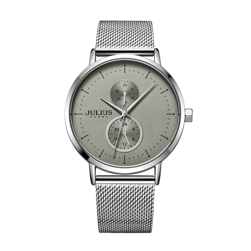 Thin Multi-function Julius Mens Watch Homme Fashion Hours Bracelet Japan Movt Stainless Steel Business Boys Birthday Gift BoxThin Multi-function Julius Mens Watch Homme Fashion Hours Bracelet Japan Movt Stainless Steel Business Boys Birthday Gift Box