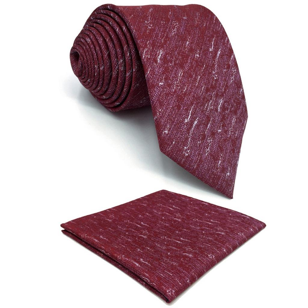 Red Abstract Silk Mens Necktie Wedding Fashion Novelty Designer X-long Pocket Square