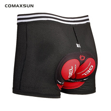 COMAXSUN Men's Cycling Underwear Bicycle Mountain MTB Shorts Riding Bike Sport Underwear Compression Tights Shorts 5D Padded