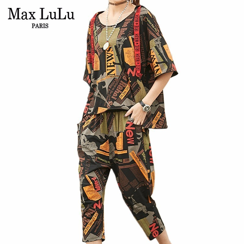 Max LuLu 2019 Summer Fashion Korean Ladies Vintage Clothes Women 2 Pieces Sets Hooded Outfits Oversized