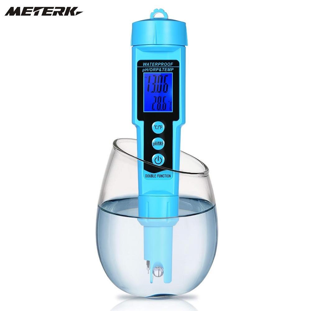 Professional 3 in 1 pH ORP TEMP Meter Water Detector Multi parameter Digital LCD Tri Meter