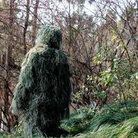 3D лист камуфляж Ghillie костюм Открытый Охота Birding просмотра фотографирования костюмы дышащие джунгли одежда для охотника