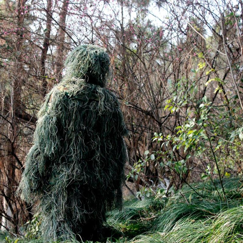 Image 2 - 3D Leaf Camouflage Ghillie Suit Outdoor Hunting Birding Watching Photographing Clothing Breathable Jungle Clothes for Hunter-in Hunting Ghillie Suits from Sports & Entertainment