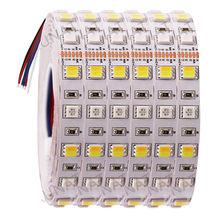 DC12V 24V RGB + CCT LED רצועת אור SMD 5050 RGBW RGBWW RGB WWA גמיש led פס חבל קלטת דקורטיבי אורות 5M